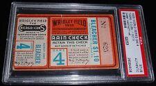 1935 DETROIT TIGERS VS CUBS WORLD SERIES WS GAME 4 TICKET GABBY HARTNETT HR PSA