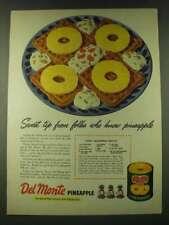 1948 Del Monte Pineapple Ad - Tropic Gingerbread Waffles Recipe