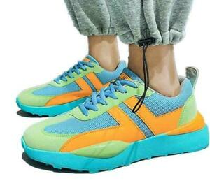 Men's Lace Up Fashion Sneakers Breathable Trainers Athletic Sport Running Shoes