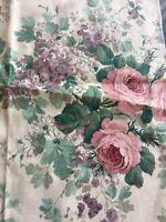 """Vtg SANDERSON Fabric Floral Mayrose Linen Cotton 22""""x21"""" Sample Remnant U.K."""