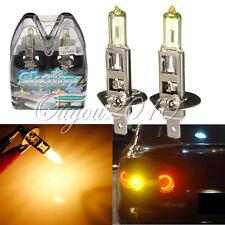 2X H1 Yellow 55W 2500K Car Fog Xenon Halogen 12V Headlight Lamp Light Bulb
