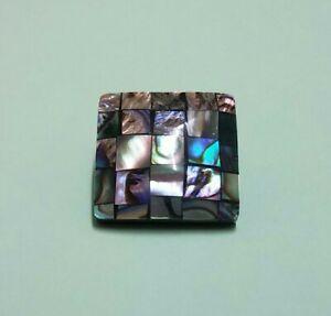 Paua Shell Mosaic Square Shank Button 19mm New Zealand Abalone Sewing Crafts DIY