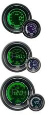 Prosport 52mm EVO Car Boost PSI + Oil Pressure + Oil Temp White Green Gauges