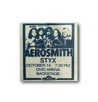 Aerosmith Authentic Styx Tour Backstage All Access Concert Pass Tyler Perry COA