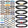 Wholesale Lots 30 Pcs Mixed Bracelets Natural Stone Stretch Women Men Bracelets