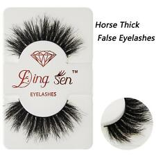 Makeup Cross False Eyelashes 100% Real 3D Mink Eye Lashes Extension DH #Z