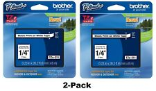 2-Pack GENUINE Brother TZe-211 Label Tape TZ211 * Authorized Brother Dealer *
