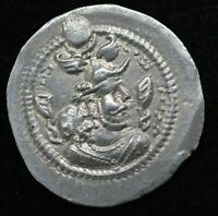 SASANIAN Kings King Peroz I, 459-484 AD. Silver dirhem 4.10 grams 27 mm