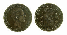 pcc1968_6)  SPAGNA SPAIN 10 Centimos 1877 OM ( bronze)