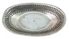 Victorian Style Fruit Basket Silver Plated Luxury Vintage Easter Decor G23-85 Us