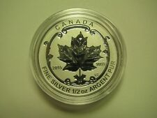 2015 Reverse Proof $4 Incuse Sugar Maple SML from fractional set Canada 1/2oz .9