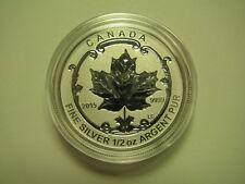 2015 Reverse Proof $4 Incuse Sugar Maple SML from set Canada 1/2oz .9999 silver