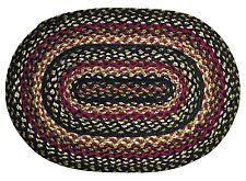 IHF Home Decor Braided Area Carpet Accent Rug Oval 6' x 9' Jute Tartan