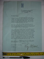 Original theatrical/movie letter c.1918,signed by May Allison -Silent Film star.