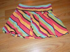 Girls Size 4 Gymboree Jungle Gem Striped Skirt Skort Brown Orange Coral Green
