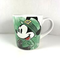 Disney Mickey Mouse St. Patricks Day Green Mug