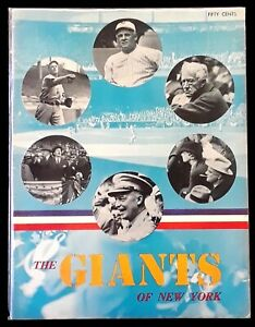 The Giants of New York (1947 Yearbook) - SCARCE FIRST EVER Giants Yearbook