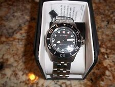 NEW Wenger 1000m Aquagraph Deep Diver - Stainlessl  Black Dial Date 72236