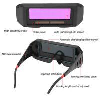 Solar Auto Oscurecimiento Soldadura Gafas Casco Ojos Protección Soldador Glass