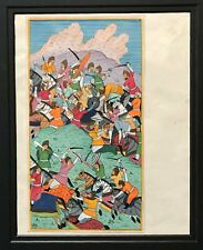 Indo/Persian Manuscript Painting/ Script Two-Sided 19th C.