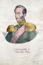 c1830 Nikolaus Zar Tsar Nicolas of Russia Russland Eiweißgehöhtes Litho Portrait