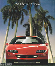 1996 Chevy CAMARO Brochure with Color Chart: Z28,RS,CONVERTIBLE,Z-28, free ship