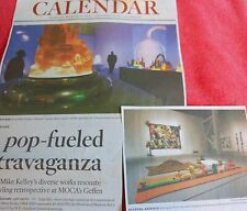 MIKE KELLEY ARTIST EXHIBITION ART REVIEW ARTICLE CLIPPING LA TIMES MARCH 31 2014