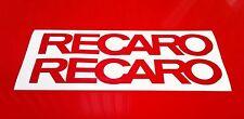 Recaro Sticker 2 x 290mm Stickers Decals Racing Car Motorbike Rally Sponsors