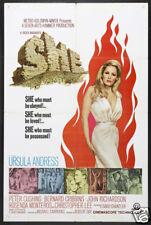 She Ursula Andress vintage Movie poster print