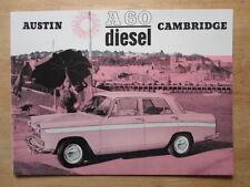 AUSTIN A60 Cambridge Diesel Saloon orig c1967 Sales Brochure - #2110/H