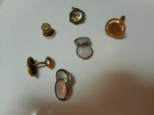 Vintage 6 Cuff Links (no sets) Only 1 of each Abalone/Silver/Gold Plate/Silver