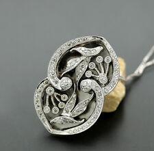 pendentif diamant de Collier blütendolden 750-weißgold blanc valeur pièce unique