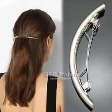 """Catwalk 4.5"""" Curved Bar French Updo Hair Pin Clip Dress Snap Barrette Brooch"""