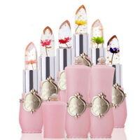 UK New Rhinestone Jelly Lipstick Temperature Change Color Flower Magic Lip Balm
