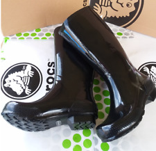 CROCS TALL RAIN BOOTS FREE SAIL JAUNT GEORGIE SHOE CLOG~Black~Women 8~NWT