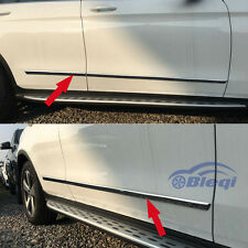 Chrome Body Side Door Moulding Trim cover For Benz GLC 300 X205 2016 2017 2018