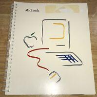 1983 EARLY FIRST Print MACINTOSH 128K Original MANUAL Mac M0001 1984 Guide RARE!