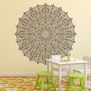 "Mandala ""The Eshita"" Vinyl Wall or Ceiling Decal for yoga studio and more K713"