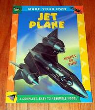 MAKE YOUR OWN ~ JET PLANE MODEL Punch out PUSH OUT ASSEMBLING BOOK Press-Out