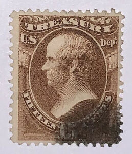 Travelstamps: US Stamps Scott #O79 Used NG 15 Cent Denomination Treasury