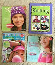 New ListingLot 4 Klutz Kids Junior Teen Craft Books Bead Loom Scoubidou Bracelets Knitting