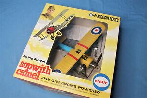 1972 Cox Thimble Drome Sopwith Camel Gas Powered Control Line .049 Plane 8000