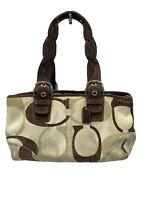 Coach Canvas Satchel Shoulder Bag Handbag Purse G0969 F12195