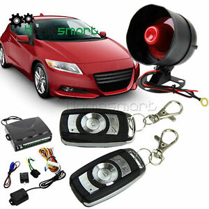1-Way Car Auto Vehicle Alarm&Keyless Entry Siren Security with double Remote AHS
