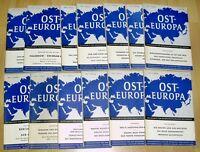 13x Osteuropa 1951 1952 1953 Zeitschrift Gegenwartsfragen Geschichte Sowjetunion
