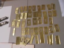 Hanson Brass 1 1/2 Inch Reuseable Stencils,#10149 Set,Missing Some, Extra Other