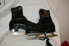 Vintage Size 5 Men's Figure Skates - Black by SILVER SKATES #5053 - Original Box