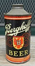 Vintage Straight Steel Berghoff 88 12 FL OZ Cone Top Beer Can IRTP