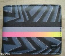 NWT MENS BILLABONG SURF TIDES BLACK MULTI BIFOLD FAUX LEATHER WALLET NEW