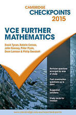 Cambridge Checkpoints VCE Further Mathematics 2015 (No markings in the book)